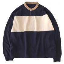 Sweater / sweater Spring of 2019 Green, blue Average size Long sleeves routine Socket singleton  Thin money Crew neck easy Sweet Bat sleeve Color matching 81% (inclusive) - 90% (inclusive) cotton cotton Single breasted college
