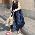 Dress Spring 2021 navy blue Average size Mid length dress singleton  Sleeveless commute Crew neck Loose waist Decor Socket other routine straps 18-24 years old Type A Korean version 91% (inclusive) - 95% (inclusive) other other