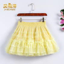 skirt Summer 2021 S,M,L,XL,2XL Short skirt Versatile High waist Cake skirt Solid color Type A 91% (inclusive) - 95% (inclusive) other Annabess polyester fiber