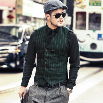 Vest / vest Business gentleman Mixlimited / men's Club S M L XL XXL XXXL M106-2 dark green, M106 dark gray Other leisure Self cultivation Vest routine autumn youth 2018 Business Casual M106-2 Cotton 100% Autumn of 2018