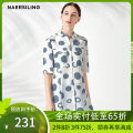 shirt Decor Summer of 2018 polyester fiber 96% and above Short sleeve commute Medium length Polo collar Single row multi button other 35-39 years old Straight cylinder NAERSILING printing Polyester 100% Same model in shopping mall (sold online and offline)