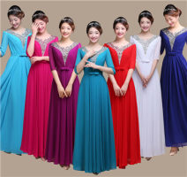 Dress / evening wear Wedding, adulthood, party, company annual meeting, performance Korean version longuette middle-waisted Summer 2016 A-line skirt square neck zipper Composite yarn 26-35 years old ZT101 three quarter sleeve Nail bead Solid color routine Sequins