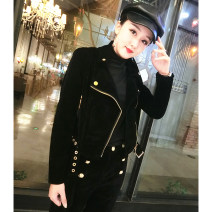 short coat Spring of 2019 M,L,XL,2XL black Long sleeves routine routine singleton  Self cultivation