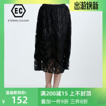 skirt Autumn 2020 S,M,L,XL,XXL 805 black Middle-skirt commute other other Type A 30-34 years old J306Q369 other Eternal.color/eternal color polyester fiber Lace lady
