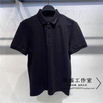 Polo shirt Peacebird Youth fashion routine black S,M,L,XL,2XL easy business affairs summer Short sleeve B1DBB2112 2021 Solid color washing
