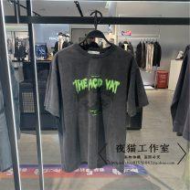 T-shirt Youth fashion black routine S,M,L,XL,2XL Peacebird Short sleeve Crew neck easy daily summer B2DAB2183 tide 2021 washing