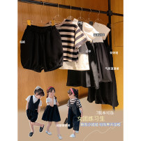 Dress Striped T, patchwork dress, trousers, waistcoat, skirt, shorts, vest, shirt female Other / other 80, 90, 100, 110, 120, 130, 140, 150 Other 100% summer leisure time Short sleeve other other A-line skirt other
