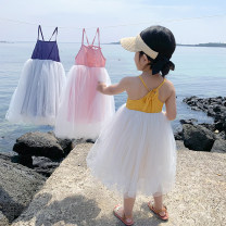 Dress female Other / other 80, 90, 100, 110, 120, 130, 140 Other 100% summer Korean version Skirt / vest Solid color cotton Cake skirt 18 months, 2 years old, 3 years old, 4 years old, 5 years old, 6 years old, 7 years old