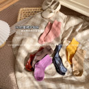 Children's socks (0-16 years old) Medium socks Black, dark brown, blue, purple, khaki, apricot, yellow, pink, orange S code, M code, l code Other / other spring and autumn female