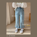 trousers Other / other female 80, 90, 100, 110, 120, 130, 140, 150 blue spring and autumn Ninth pants Jeans other 18 months, 2 years old, 3 years old, 4 years old, 5 years old, 6 years old, 7 years old