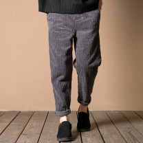 Casual pants dark grey Autumn of 2019 trousers Haren pants Natural waist commute routine 31% (inclusive) - 50% (inclusive) Other / other corduroy literature