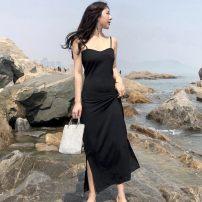 Dress Summer of 2018 Green black Average size longuette singleton  Sleeveless commute High waist camisole 18-24 years old Korean version