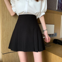 skirt Spring 2021 S,M,L Apricot, black, blue Short skirt commute High waist Pleated skirt Solid color Type A 18-24 years old 31% (inclusive) - 50% (inclusive) other polyester fiber fold Korean version 401g / m ^ 2 (inclusive) - 500g / m ^ 2 (inclusive)