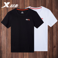 Sports T-shirt XTEP / Tebu S M L XL 2XL 3XL Short sleeve male Crew neck 882229019132_ Ow3Nk routine Moisture absorption, perspiration, quick drying and ventilation Summer 2020 Brand logo design letter Sports & Leisure Sports life Cotton polyester yes