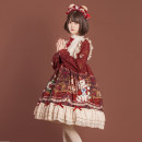 Lolita / soft girl / dress The leopard has a cat S. M, l, XL, 2XL, one size fits all Customized