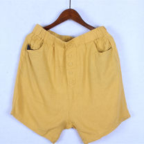 Casual pants Yellow, picture brown Average size NT4049