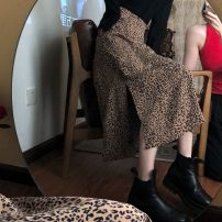 skirt Summer 2021 S,M,L White, coffee Mid length dress commute High waist A-line skirt Leopard Print Type A 18-24 years old 31% (inclusive) - 50% (inclusive) other Korean version