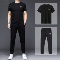 Leisure sports suit Four seasons 165,170,175,180,185 Tzx101 black, tzx103 black, tzx104 black, tzx105 black Long sleeves Other / other trousers youth Sweater cotton 2021