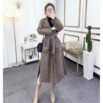 woolen coat Winter 2020 S,M,L,XL,2XL,3XL Lattice [one yard larger] other 31% (inclusive) - 50% (inclusive) have more cash than can be accounted for Long sleeves commute Frenulum routine other High waist type Retro Other / other