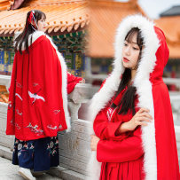 National costume / stage costume Winter of 2018 Red silk Average size B1673 Han Yijia 18-25 years old Other 100% Pure e-commerce (online only)