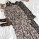 Dress Summer 2021 Khaki, black Average size longuette singleton  Elastic waist Broken flowers 18-24 years old More than 95% other
