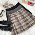 skirt Summer 2021 S,M,L Black, gray, check 18-24 years old 30% and below cotton