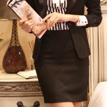 skirt Summer 2014 S,M,L,XL,2XL,3XL,4XL Light grey skirt, black skirt, dark grey skirt, black pendant skirt Short skirt commute High waist Suit skirt Solid color Type H AAA901+1 More than 95% other other chain Korean version