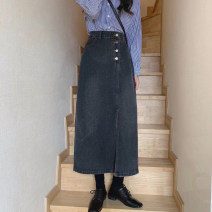 skirt Summer 2021 S,M,L,XL 637 light blue, 637 black gray Mid length dress commute High waist other other Type A 18-24 years old 71% (inclusive) - 80% (inclusive) other cotton 401g / m ^ 2 (inclusive) - 500g / m ^ 2 (inclusive)