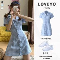 Dress Summer 2021 S,M,L,XL Mid length dress singleton  Short sleeve commute V-neck Socket routine 31% (inclusive) - 50% (inclusive) other