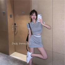 Fashion suit Summer 2021 S,M,L,XL 984 grey, 984 black 18-25 years old 31% (inclusive) - 50% (inclusive) cotton