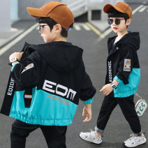 Plain coat Boboelphant / bubble elephant male 110cm 120cm 130cm 140cm 150cm 160cm 170cm Black green spring and autumn Korean version Zipper shirt There are models in the real shooting routine No detachable cap Solid color other other Zoeber-a107-1 Other 100% Class B Spring 2021