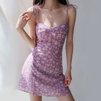 Dress Summer 2020 S,M,L Short skirt Short sleeve High waist camisole
