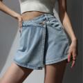 Jeans Spring 2021 Charcoal, denim S,M,L shorts High waist routine Dark color