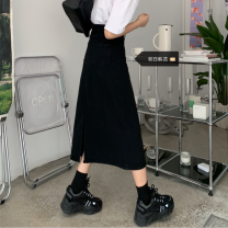 Women's large Spring 2021, summer 2021, autumn 2021 black S [recommended 80-95 kg], m [recommended 95-110 kg], l [recommended 110-125 kg], XL [recommended 125-140 kg], 2XL [recommended 140-160 kg], 3XL [recommended 160-180 kg], 4XL [recommended 180-200 kg] skirt singleton  commute easy moderate other