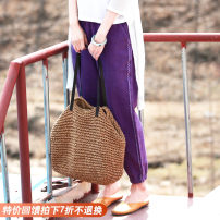 Casual pants violet M, L Spring 2021 Ninth pants Natural waist original routine 25-29 years old 96% and above hemp hemp