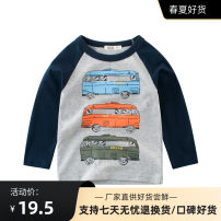 T-shirt 27KIDS 90cm,100cm,110cm,120cm,130cm,140cm neutral spring and autumn Long sleeves Crew neck leisure time No model nothing cotton Cartoon animation Class A other 2 years old, 3 years old, 4 years old, 5 years old, 6 years old, 7 years old, 8 years old, 9 years old, 10 years old, 18 months old