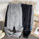 trousers Other / other male (tag 110), (tag 120), (tag 130), (tag 140), (tag 150), (tag 160) Black, flax grey spring and autumn trousers leisure time Sports pants middle-waisted Don't open the crotch trousers Three, four, five, six, seven, eight, nine, ten, eleven, twelve, thirteen