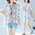 Women's large Summer of 2018 white One size fits all shirt singleton  commute easy moderate Socket Short sleeve Decor Korean version Crew neck routine Cotton, hemp printing and dyeing routine Other / other 81% (inclusive) - 90% (inclusive)