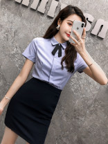 Professional dress suit S M L XL XXL 3XL 4XL 5XL Summer 2017 Short sleeve YR8670DC-PTQ Other styles of shirts Suit skirt 25-35 years old Aoxi Polyester fiber 93.6% polyurethane elastic fiber (spandex) 6.4% Pure e-commerce (online only)