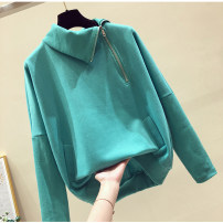 Women's large Autumn 2021 Blue, green, pink, black L [recommended 100 ~ 120 kg], XL [recommended 120 ~ 140 kg], 2XL [recommended 140 ~ 160 kg], 3XL [recommended 160 ~ 180 kg], 4XL [recommended 180 ~ 200 kg], m [recommended 80 ~ 100 kg] Sweater / sweater singleton  commute easy moderate Socket other