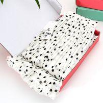 skirt Summer 2021 S,M,L,XL White dots, black dots Mid length dress commute High waist Pleated skirt Dot Type A 25-29 years old More than 95% Chiffon Ocnltiy polyester fiber Ruffles, folds, prints Korean version