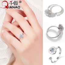 Ring / ring Alloy / silver / gold RMB 20-24.99 A thousand pride Silver brand new goods in stock Japan and South Korea female Fresh out of the oven other Plants and flowers R49 Summer of 2018 no Pure e-commerce (online only)