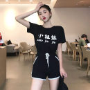 Fashion suit Summer of 2018 Average size White T + Black Pants Black T + black pants 18-25 years old Seven point five 91% (inclusive) - 95% (inclusive) polyester fiber