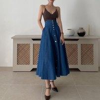 Fashion suit Summer 2021 Average size Skirt M, skirt s, vest 18-25 years old polyester fiber