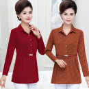 Middle aged and old women's wear Autumn of 2019 XL [recommended within 90-110 kg], XXL [recommended within 110-125 kg], 3XL [125-135 kg recommended], 4XL [135-145 Jin recommended], 5XL [145-160 Jin recommended] fashion T-shirt Self cultivation singleton  other 40-49 years old Socket moderate routine