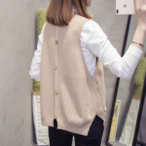 Wool knitwear Summer of 2018 Average size Light brown beibai blue black Sleeveless singleton  Socket other More than 95% Regular routine commute easy Low crew neck Solid color Socket Korean version MDJR-E455 18-24 years old Meidan beauty pocket Other 100% Pure e-commerce (online only)