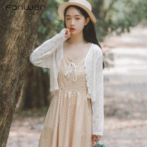Lace / Chiffon Spring 2021 Apricot S M L XL Long sleeves Sweet singleton  easy have cash less than that is registered in the accounts Solid color bishop sleeve 18-24 years old Fan Weier 3850-1 71% (inclusive) - 80% (inclusive) Other 100% Pure e-commerce (online only) polyester fiber solar system