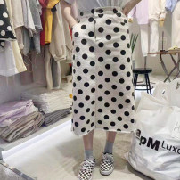 skirt Summer 2020 S,M,L,XL White, black Mid length dress commute High waist Dot 18-24 years old 31% (inclusive) - 50% (inclusive) other other Korean version