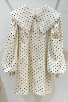 Dress Autumn 2020 S,M,L,XL Mid length dress singleton  Long sleeves commute Doll Collar High waist Dot other other bishop sleeve 18-24 years old Korean version 51% (inclusive) - 70% (inclusive) other other