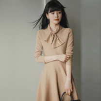 Dress Winter 2020 Alpaca black S M L XL Middle-skirt singleton  Long sleeves commute other High waist Solid color Socket A-line skirt routine Others 18-24 years old Type A Love fame and elegance Korean version TL80304 More than 95% other other Other 100% Pure e-commerce (online only)